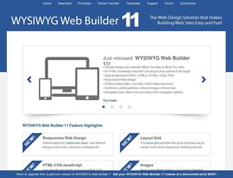 wysiwygwebbuilder.com screenshot