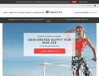 fabletics.de screenshot