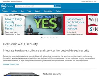 sonicwall.com screenshot