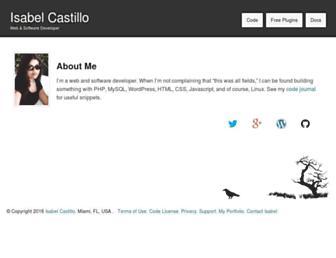 Thumbshot of Isabelcastillo.com