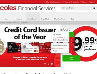 Thumbshot of Colesmastercard.com.au