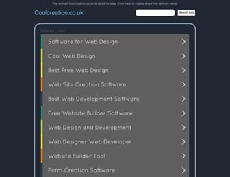 Main page screenshot of coolcreation.co.uk