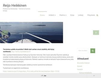 Main page screenshot of reijoheikkinen.fi