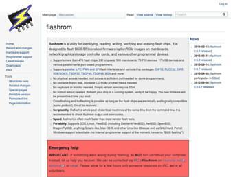 flashrom.org screenshot