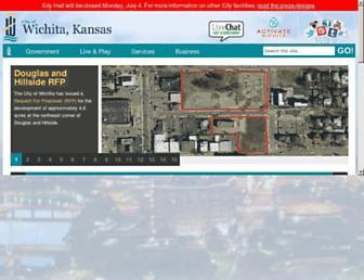 Main page screenshot of wichita.gov