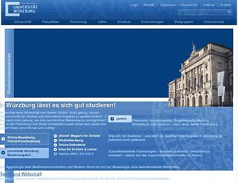 uni-wuerzburg.de screenshot