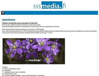 Main page screenshot of sssmedia.fi