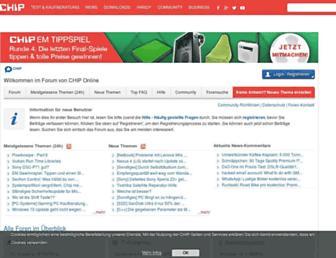 Main page screenshot of forum.chip.de