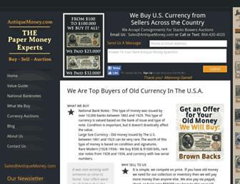 antiquemoney.com screenshot