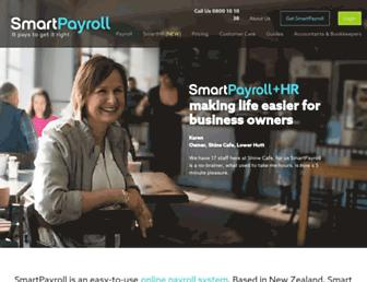 smartpayroll.co.nz screenshot