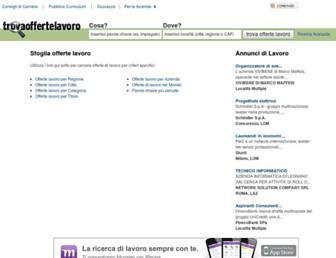 Main page screenshot of trovaoffertelavoro.it
