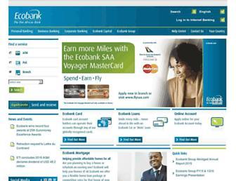 ecobank.com screenshot