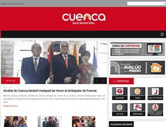 Main page screenshot of cuenca.gov.ec