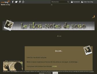 Main page screenshot of sophiegoyard.over-blog.net