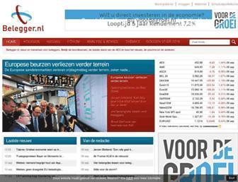 Main page screenshot of belegger.nl