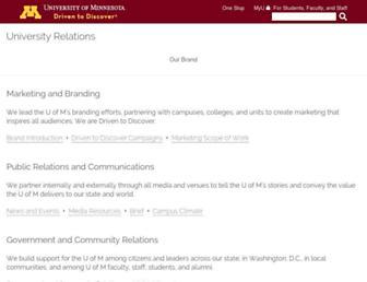university-relations.umn.edu screenshot