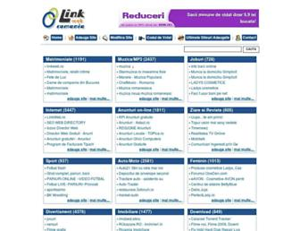 Main page screenshot of linkweb.ro