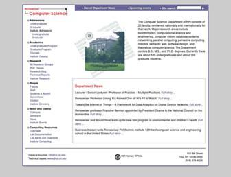 cs.rpi.edu screenshot