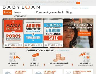 babyloan.org screenshot
