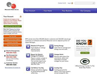 wisconsinpublicservice.com screenshot
