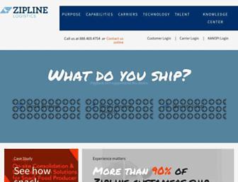 ziplinelogistics.com screenshot