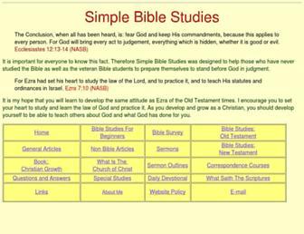 simplebiblestudies.com screenshot