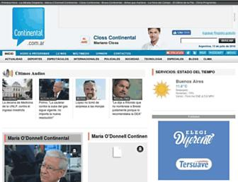 Main page screenshot of continental.com.ar