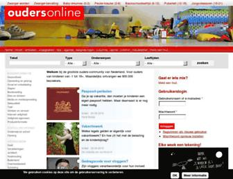Main page screenshot of ouders.nl