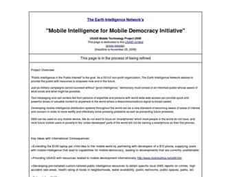 Main page screenshot of mobile-democracy.re-configure.org