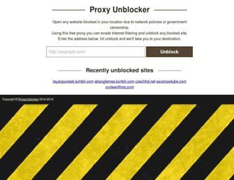Thumbshot of Proxyunblocker.org