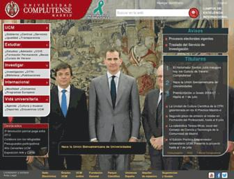 Main page screenshot of ucm.es