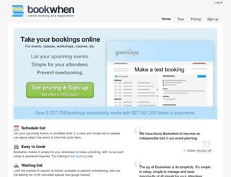Thumbshot of Bookwhen.com