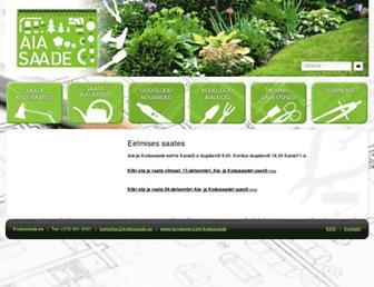Main page screenshot of kodusaade.ee