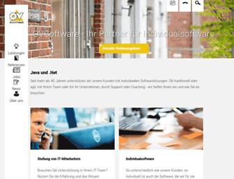 Main page screenshot of ovsoftware.de