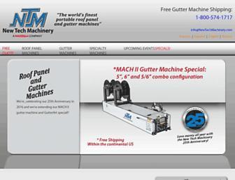 newtechmachinery.com screenshot