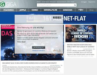 Main page screenshot of giga.de