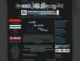 hackthissite.org screenshot