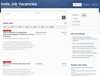 indiajobvaccancies.com screenshot