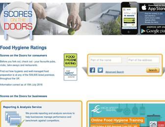 Main page screenshot of scoresonthedoors.org.uk