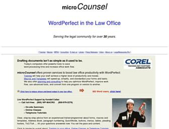 microcounsel.com screenshot