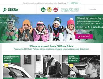 Main page screenshot of dekra.pl