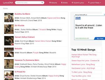 lyricsdna.com screenshot