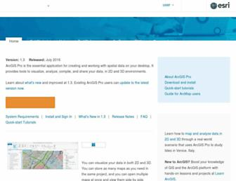 pro.arcgis.com screenshot