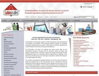 lotioncrafter.com screenshot