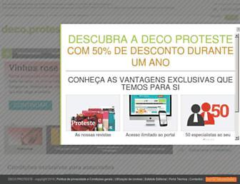 deco.proteste.pt screenshot