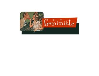Main page screenshot of feministe.us
