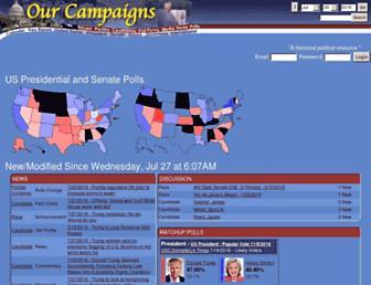 ourcampaigns.com screenshot