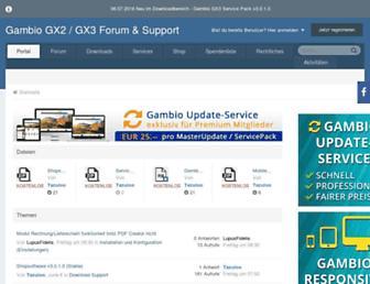 gambio-forum.com screenshot