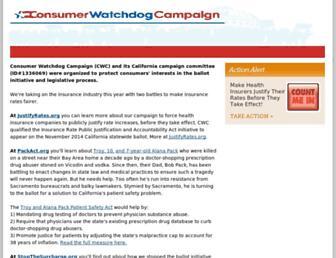 Thumbshot of Consumerwatchdogcampaign.org