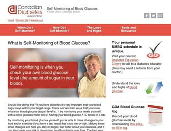 smbg.diabetes.ca screenshot
